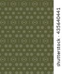 olive green abstract geometric... | Shutterstock . vector #435640441