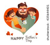 father's day vector concept.... | Shutterstock .eps vector #435644401