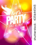 let s party summer design with... | Shutterstock .eps vector #435644545