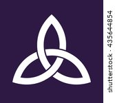 celtic trinity knot . vector... | Shutterstock .eps vector #435644854