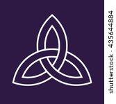 celtic trinity knot symbol | Shutterstock .eps vector #435644884