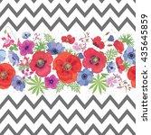 beautiful flower seamless... | Shutterstock .eps vector #435645859