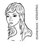 woman's face   Shutterstock .eps vector #435645961