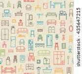 vintage vector seamless pattern ... | Shutterstock .eps vector #435647215