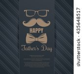 father's day card. glasses ... | Shutterstock .eps vector #435648517