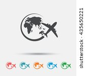 airplane sign icon. travel trip ... | Shutterstock .eps vector #435650221