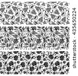 set of lace borders for page ...   Shutterstock .eps vector #435650224