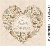 Vector Vintage Card With Heart...