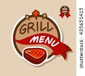 badge  label  logo  icon design ... | Shutterstock .eps vector #435651415