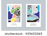collection of trendy creative... | Shutterstock .eps vector #435653365