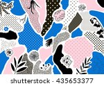 creative geometric background... | Shutterstock .eps vector #435653377