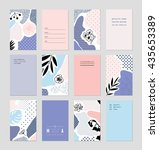 collection of trendy creative... | Shutterstock .eps vector #435653389