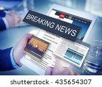 breaking news media...   Shutterstock . vector #435654307