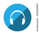 headphone icon | Shutterstock .eps vector #435656839