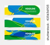 set of banners. three color... | Shutterstock .eps vector #435656935