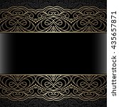 vintage gold background ... | Shutterstock . vector #435657871