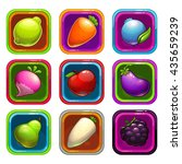 cartoon app icons with colorful ...