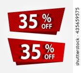 banner template sale promotion. ... | Shutterstock .eps vector #435659575