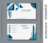 business blue visiting card... | Shutterstock .eps vector #435660529
