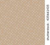 seamless beige vintage... | Shutterstock . vector #435661435