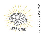brain power  vector... | Shutterstock .eps vector #435662365
