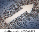 large group of people forming a ... | Shutterstock . vector #435662479