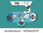 training medical  education.... | Shutterstock .eps vector #435662599
