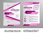 vector flyer template design.... | Shutterstock .eps vector #435663367