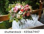 beautiful floral arrangement of ... | Shutterstock . vector #435667447