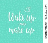 lettering quotes motivation for ... | Shutterstock .eps vector #435667624