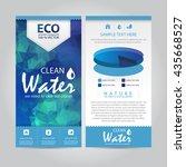 eco geometric vector leaflet ... | Shutterstock .eps vector #435668527