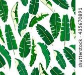 banana leaves pattern. | Shutterstock .eps vector #435670891