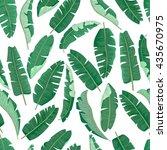 banana leaves pattern. | Shutterstock .eps vector #435670975