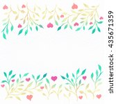 watercolor background. flower... | Shutterstock . vector #435671359