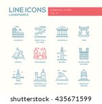 set of modern vector simple... | Shutterstock .eps vector #435671599