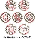 yoga vector design. 7 chakra... | Shutterstock .eps vector #435671875
