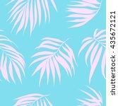 tropical leaves seamless... | Shutterstock .eps vector #435672121