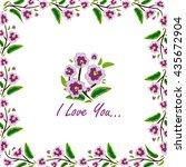 vector amazing flower design.... | Shutterstock .eps vector #435672904
