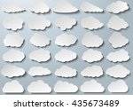 cloud vector icon set silver... | Shutterstock .eps vector #435673489