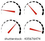 dial  meter templates with red... | Shutterstock .eps vector #435676474