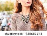 Close Up View Of A Girl With...