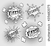 set of comic sound effects....   Shutterstock .eps vector #435682075