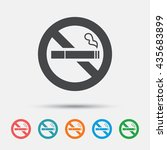 no smoking sign icon. quit... | Shutterstock .eps vector #435683899