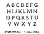 watercolor font. abc  letters ... | Shutterstock . vector #435686059