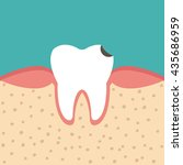 illustration of tooth sectional ... | Shutterstock .eps vector #435686959