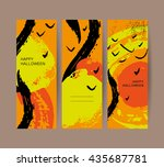 vector collection of abstract... | Shutterstock .eps vector #435687781
