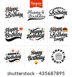 happy birthday premium... | Shutterstock .eps vector #435687895