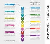 infographic design template... | Shutterstock .eps vector #435689731