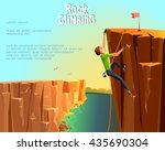 rock climbing boy. beautiful... | Shutterstock .eps vector #435690304
