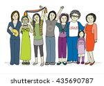 women group celebrating success | Shutterstock . vector #435690787